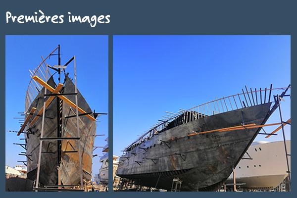 Coque du bateau Dune Alia